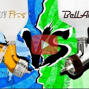 Сравнение Iwata W-400 Bellaria и Devilbiss GTI Pro Lite